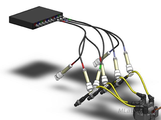 подключение мотор-тестера к DIS системе